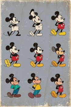 Pôster MICKEY MOUSE - evolution