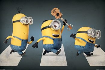 Minions - Abbey Road Poster, Art Print