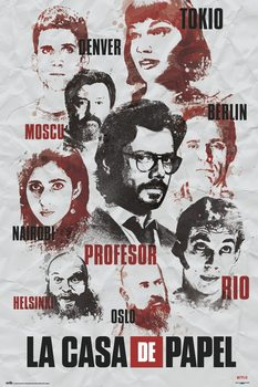 Poster Money Heist - Characters