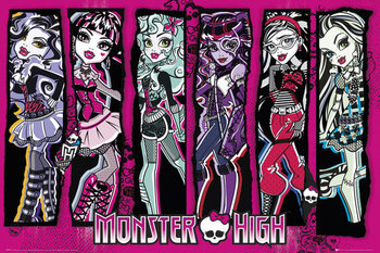 Poster MONSTER HIGH - group