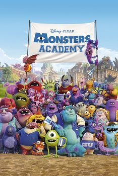 MONSTERS UNIVERSITY - academy  Poster, Art Print