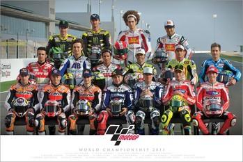 Moto GP - riders 2011 Poster