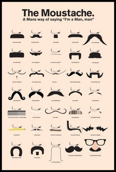 Pôster MOUSTACHE - a man's way of saying