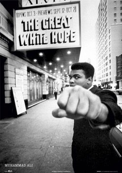 Muhammad Ali - great white Poster
