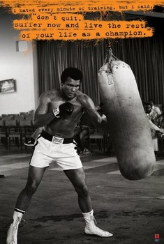 Muhammad Ali - punch bag Poster