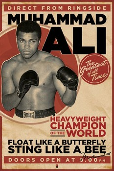 Pôster Muhammad Ali - vintage