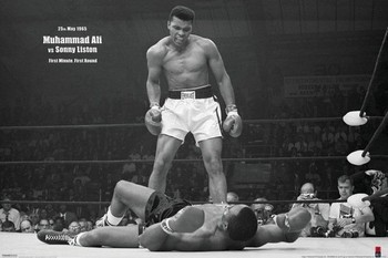 Muhammad Ali vs. Sonny Liston Poster, Art Print
