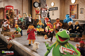 Poster  MUPPETS MOST WANTED - cast