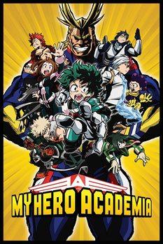 My Hero Academia - Radial Character Burst Poster