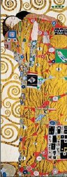 Naplnění (Objetí) část - vlys z paláce Stoclet, 1909 Art Print