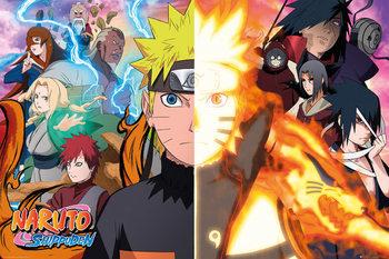 Naruto Shippuden - Split Poster