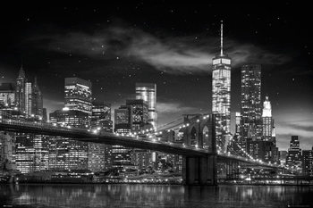 New York - Freedom Tower B&W Poster, Art Print