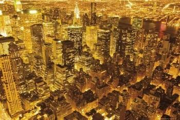 New York - golden Poster