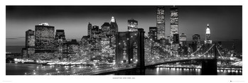 New York - Manhattan black Poster, Art Print