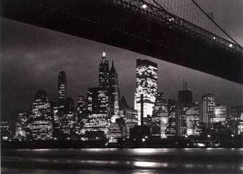 New York night - skyline Poster