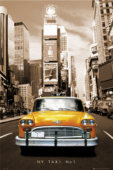 New York Taxi no.1 - sepia Poster, Art Print