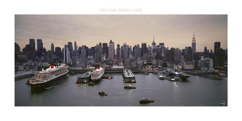 New York, terminal liner Art Print