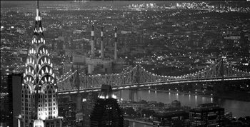 New York - The Chrysler Building and Queensboro bridge Art Print