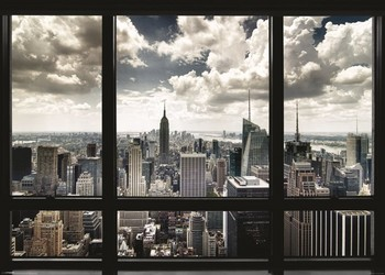 New York - window Poster, Art Print