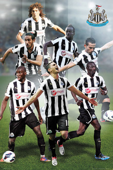 Newcastle United - players 12/13 Poster, Art Print