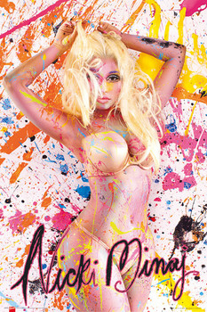 Nicky Minaj - paint Poster