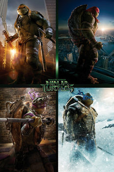 Ninja Turtles Movie - Quad Poster