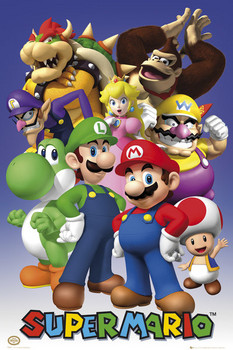 Nintendo - mario / all stars Poster