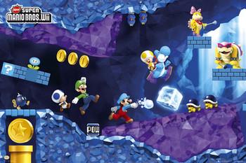 Nintendo - mario under Poster