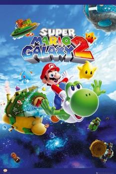Nintendo - super mario galaxy 2 Poster