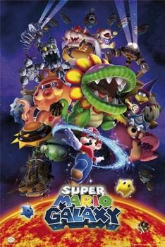 Nintendo - super mario galaxy Poster