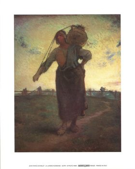 Norman Milkmaid in Gréville Art Print