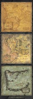 Poster O Senhor dos Anéis - mapa da Terra Média