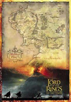 Pôster O Senhor dos Anéis - mapa da Terra Média