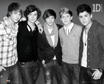 One Direction - b&w Poster