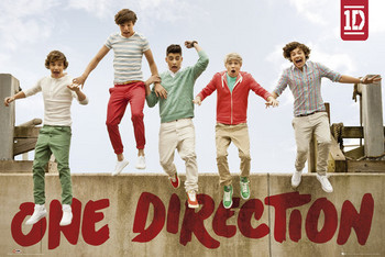 One Direction - jumping Poster