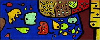 P.Klee - Fruchte Auf Blau Art Print