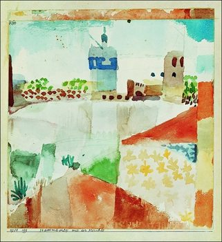 P.Klee - Hamammet Mit Der Moschee Art Print