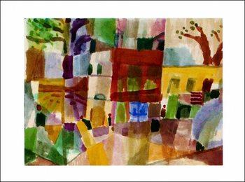 P.Klee - Maisons Rouges Art Print