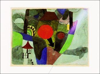 P.Klee - Mit Der Sinkenden Sonne Art Print