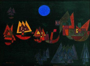 P.Klee - Schiffe Im Dunkeln Art Print