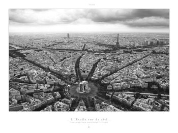 Paris - L'Etoile vue du ciel Art Print