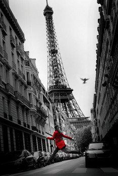 Poster Paris - la veste rouge