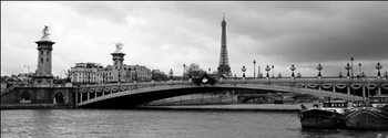 Paris - Pont Alexandre-III and Eiffel tower Art Print
