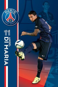 Pôster Paris Saint-Germain FC - Angel Di Maria