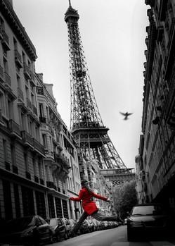 Paříž - la veste rouge Poster