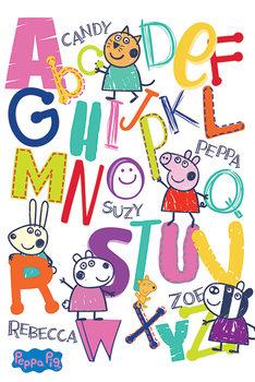 Peppa Pig - Alphabet Poster