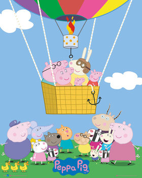 Peppa Pig - Balloon Poster, Art Print
