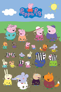 Poster Peppa Pig - Characters Muddy Puddle