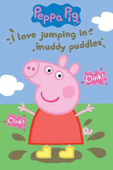 Poster Peppa Pig - Muddy Puddles