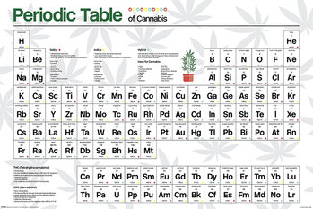 Periodic Table - Cannabis Poster
